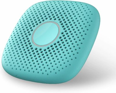 This is an image of a mint green walkie talkie for kids by Relay.