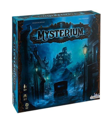 This is an image of a Mysterium cooperative board game for 12 year old kids.