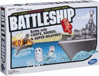 This is an image of an electronic battleship game.