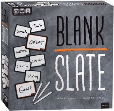 This is an image of a blank slate write a word game.