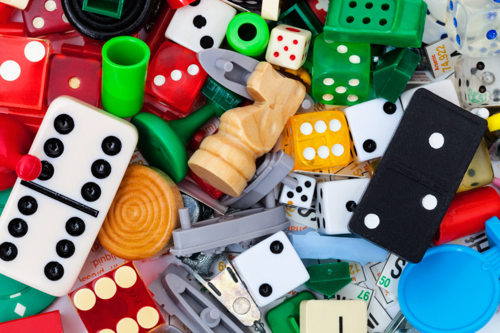 this is an image of board game pieces