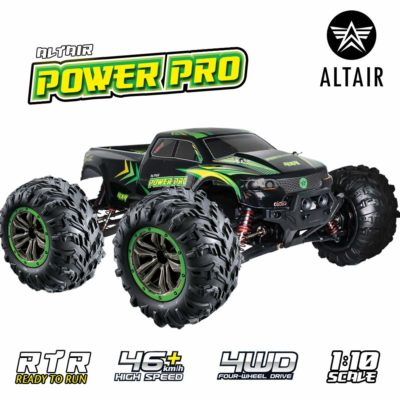 This is an image of a green Power Pro rc truck by Altair.