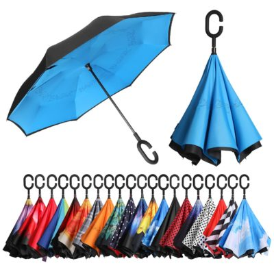 This is an image of a blue inverted umbrella by Bagail.