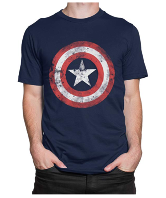 This is an image of a captain america t-shirt by Marvel.