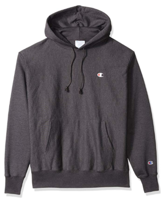 This is an image of a granite heather hoodie jacket for men.