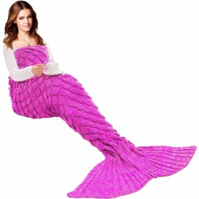 This is an image of a lady for mermaid tail blanket by Jr. White.