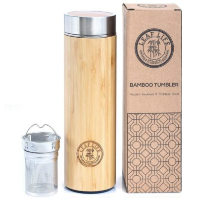 This is an image of a bamboo tumbler with diffuser.