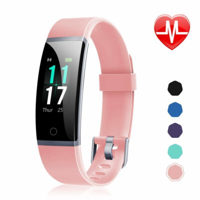 This is an image of a pink activity tracker watch for ladies.