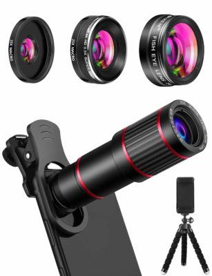 This is an image of a 2 in 1 camera and telescope lens kit.