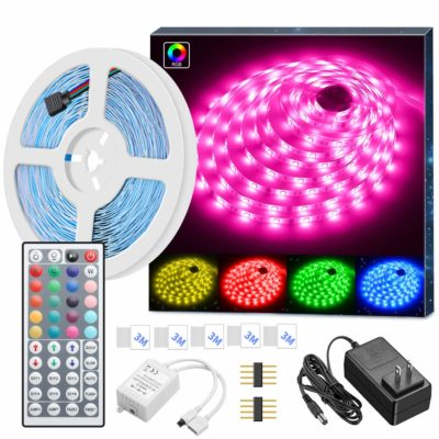 This is an image of a colorful LED light strips.