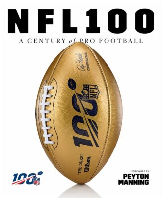 This is an image of a National Football League's 100th anniversary book.