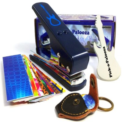 This is an image of a guitar pick maker set.