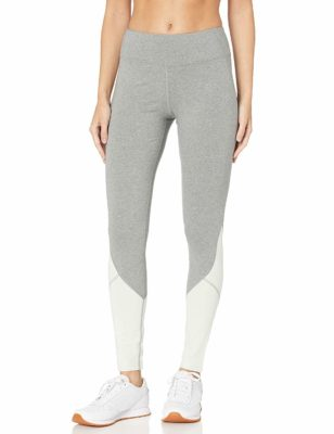 This is an image of a heather grey and mind leggings by Satva.