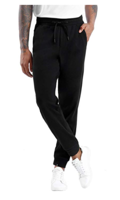 This is an image of a black jogger pants for boys.