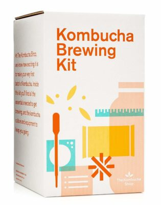 This is an image of a brewing starter kit by Kombucha Shop.