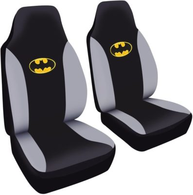 This is an image of a set of 2 Batman gaming chair covers.