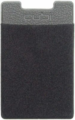 This is an image of a black card wallet for smartphones.
