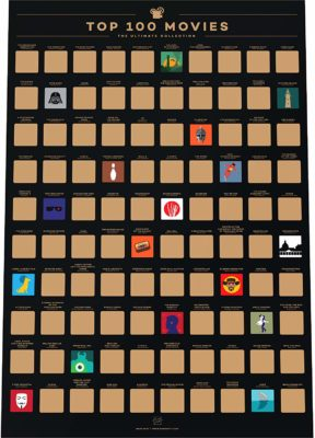 This is an image of a 100 movies scratch poster.