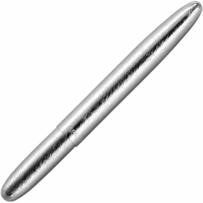 This is an image of a Brushed Chrome silver pen.