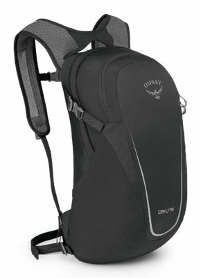 This is an image of a black Daylite daypack for me by Osprey.