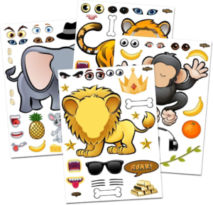 this is an image of animal zoo stickers