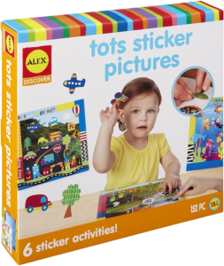 this is an image of tots sticker pictures kit