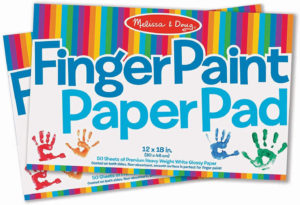 this is an image of a fingerpaint paper pad