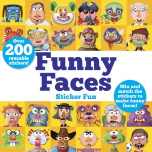 this is an image of funny faces stickers