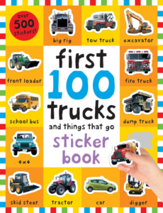 this is an image of 100 trucks stickers book