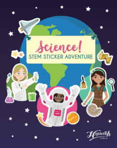 this is an image of a STEM sticker book