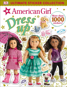 this is an image of american girl sticker dress up