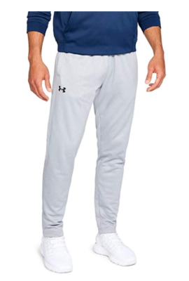 This is an image of a grey fleece pants for men.