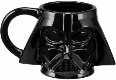 This is an image of a Darth Vader ceramic mug.