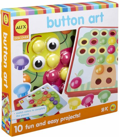 This is an image of Alex Discover Button Art Activity Set Kids Art and Craft Activity