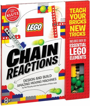 This is an image of Klutz Lego Chain Reactions Science & Building Kit