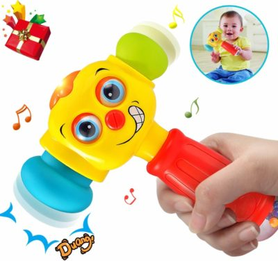 This is an image of HOMOFY Baby Toys Funny Changeable Hammer Toys 6 Months up,Multi-Function,Lights MusicToys for Infant Boys