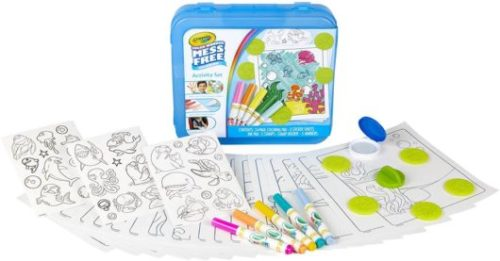 This is an image of Crayola Color Wonder Mess Free Coloring Activity Set, 30+Piece, Toddler Toys