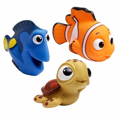 This is an image of The First Years Disney Baby Bath Squirt Toys, Finding Nemo