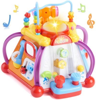 This is an image of Woby Musical Activity Cube Toy Development Educational Game Play Learning Center Toy for 1 Year Old Baby Toddler Boy and Girl