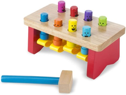 This is an image of Melissa & Doug Deluxe Pounding Bench