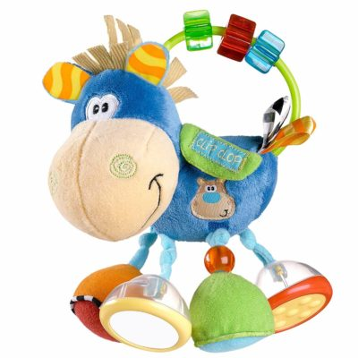 This is an image of Playgro 0101145107 Toy box Clip Clop Activity Rattle for baby infant toddler children