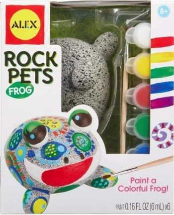 This is an image of Alex Craft Rock Pets Frog Kids Art and Craft Activity
