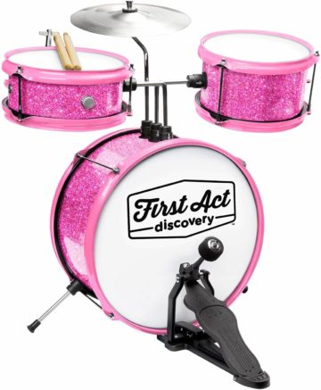 This is an image of First Act Discovery & Seat, Pink Sparkle (FAD0140)