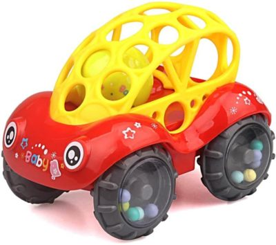 This is an image of ZHFUYS Rattle & Roll Car,3 to 24 Months Baby Toys 5 inch boy and GILR Infant Toys Vehicles