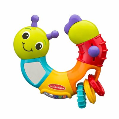 This is an image of Infantino Topsy Turvy Twist and Play Caterpillar Rattle