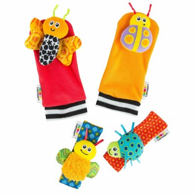 This is an image of Lamaze Gardenbug Footfinder & Wrist Rattle Set