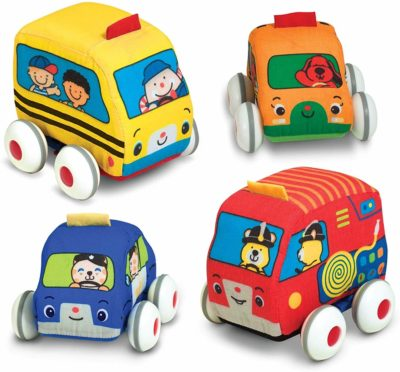 This is an image of Melissa & Doug Pull-Back Vehicles