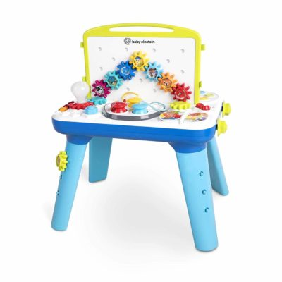This is an image of Baby Einstein Curiosity Table Activity Station Table Toddler Toy with Lights and Melodies, Ages 12 months and up