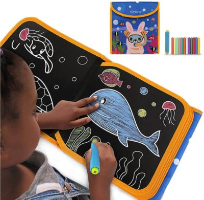 This is an image of Portable Kids Drawing Pad, Erasable Craft Kids Art Supplies Kits