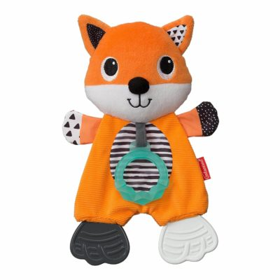 This is an image of Infantino Cuddly Teether, Fox